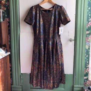 LULAROE Elegant Amelia Black Iridescent Dress